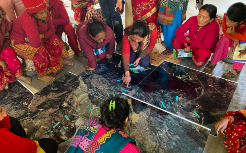 Mapping workshop in Suspa, Nepal, January 2020